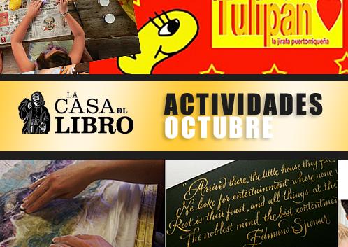 casa del libro-actividades de octubre