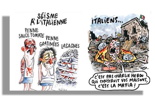 Charlie-Hebdo-terremoto-italia. | Autogiro Arte Actual