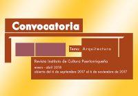 Revista del ICP | Convocatoria | Arquitectura