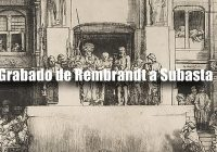Grabado de Rembrandt | Subasta