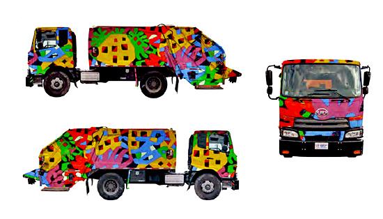 Mapping en camiones deSantiago Flores-Charneco | Autogiro Arte Actual