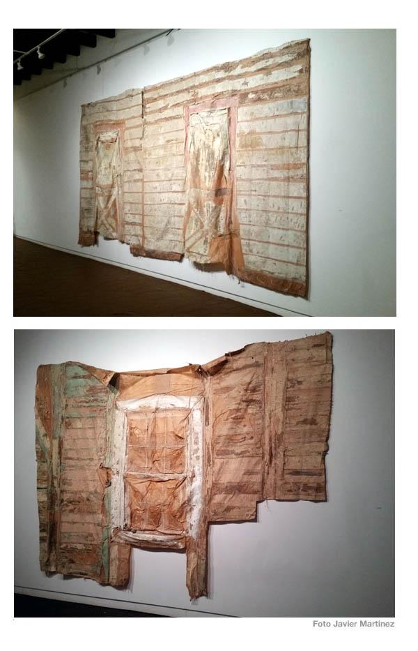 Ada del Pilar Ortiz Berrios | Obrero I (serie 4), 2018 | pintura, pega y algodón | medida variable