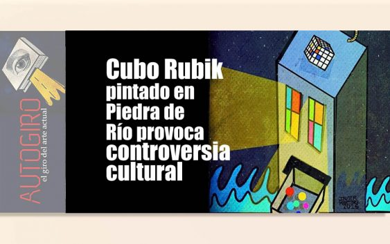 Cubo Rubik pintado en piedra de rio | Autogiro Arte Actual