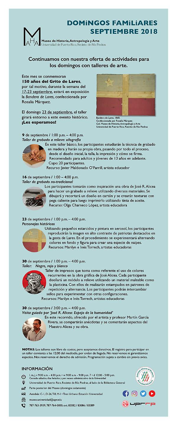 calendario Museo de Historia, Antropología y Arte | Autogiro Arte