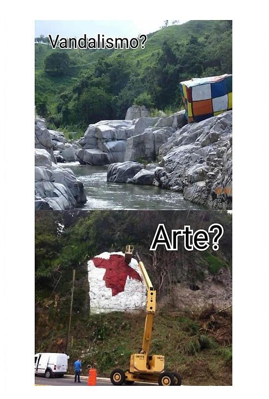 vandalismo o arte del cubo rubik | Autogiro Arte Actual