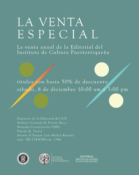 La Editorial ICP tiene su venta anual de publicaciones el sábado 8 de diciembre en el Archivo General en Puerta De Tierra