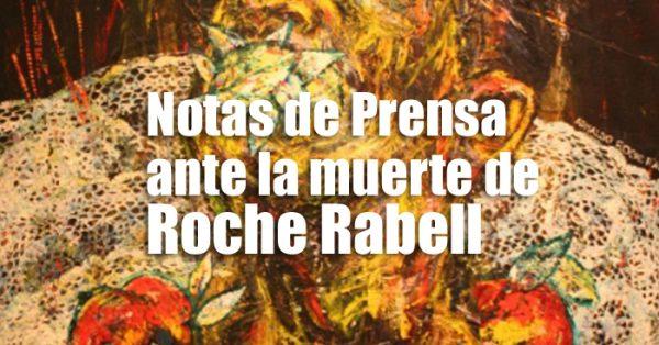 Notas de Prensa ante la muerte de Roche Rabell | Autogiro Arte Actual