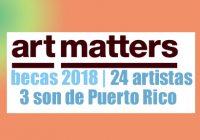 Art Matters reconoce artistas de Puerto Rico