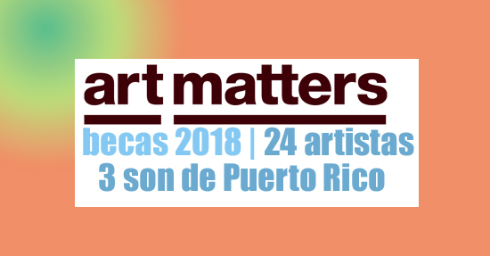 art matters foundation artists grants