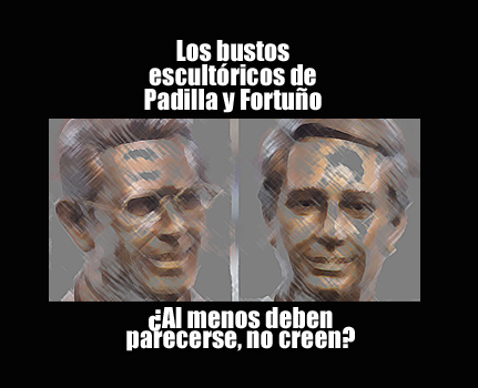 Los bustos escultóricos de Padilla y Fortuño | Autogiro Arte Actual