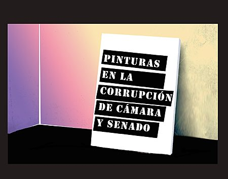 Pinturas en la corrupción de Cámara y Senado_Autogiro Arte Actual