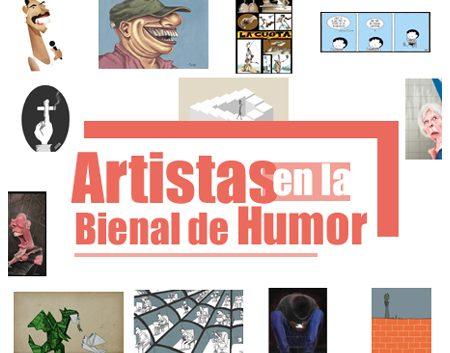 artistas en la Bienal Internacional de Humorismo Gráfico de Cuba