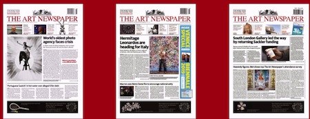the art newspaper cubre la escena del arte