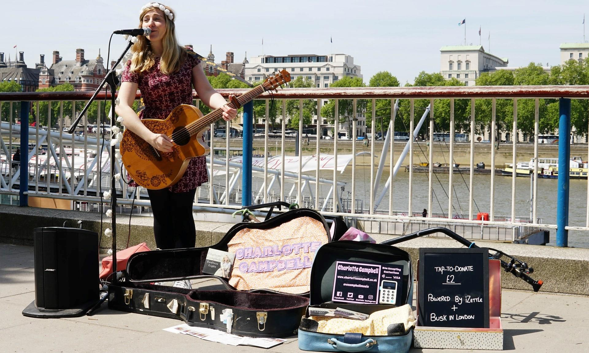 Buskers to start taking contactless card payments in London