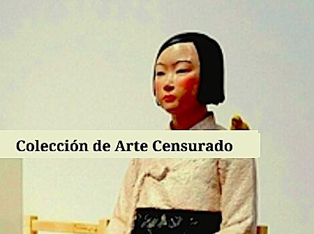escultura de joven en paz arte censurado