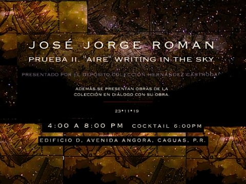 Aire Writing in The Sky de Jose Jorge Roman