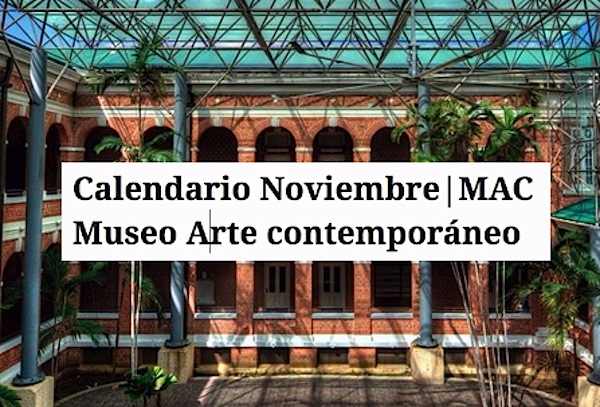 calendario del museo arte contemporaneo