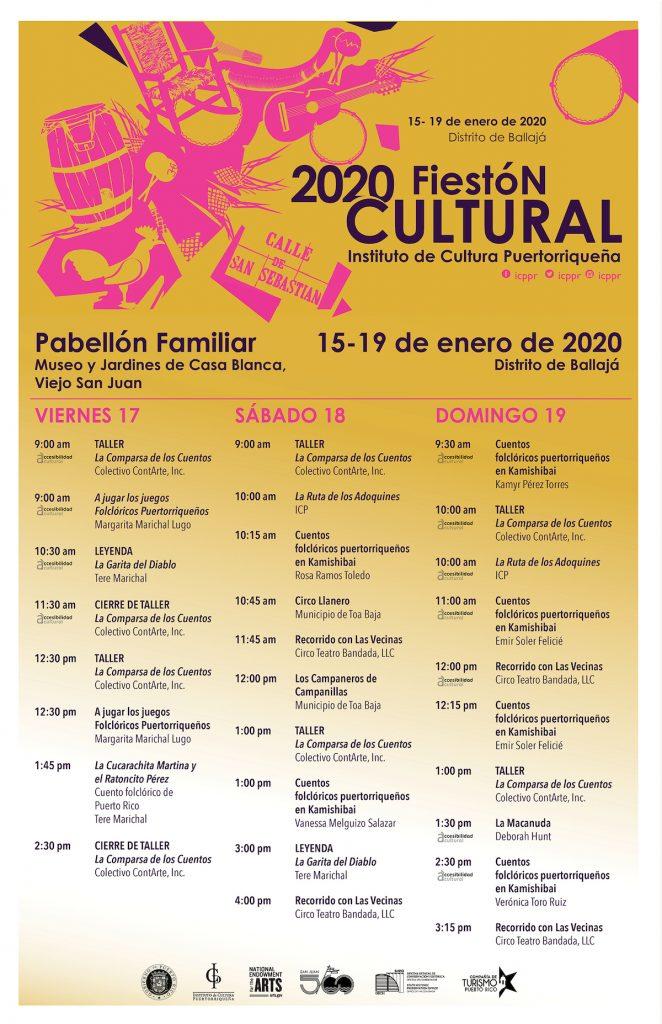 programa fiestas calle san sebastian 2020 662x1024 - Fiestón Cultural en las Fiestas de la calle 2020