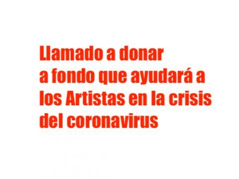 donar al fondo emergencia para artistas