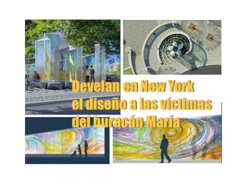 Monumento victimas huracán Maria en Nueva York