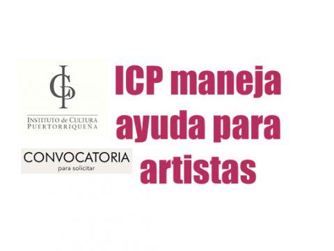 ICP maneja ayuda para artistas
