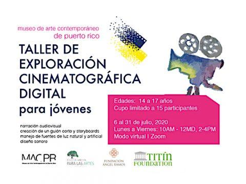 Taller de cinematografía digital para jóvenes
