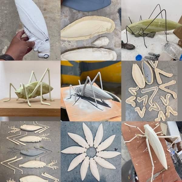 conjunto esculturas y proceso de Jaime Rodriguez Crespo