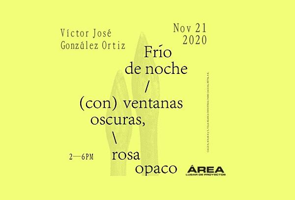 Exhibición de Víctor José González Ortiz, Frío de noche