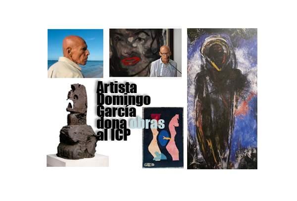 Artista Domingo García dona obras al ICP