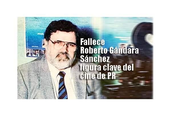 Roberto gándara Sánchez cineasta en foto de El nuevo Dia en los anos ochenta en relacionada a su película la gran fiesta